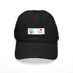 Aqua Bold I-Love-You Black Cap