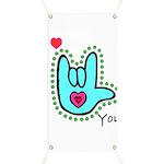 Aqua Bold I-Love-You Banner