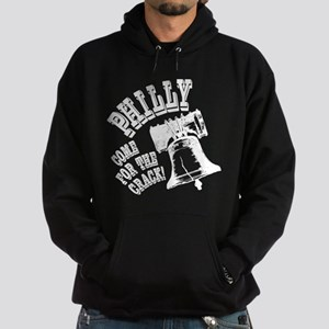Philly, come for the crack! Hoodie (dark)