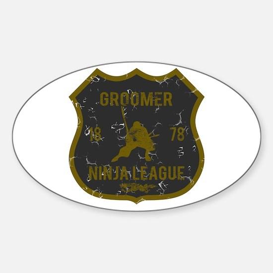 Groomer Ninja League Oval Decal