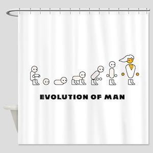 Evolution Of Man PC Master Race Shower Curtain