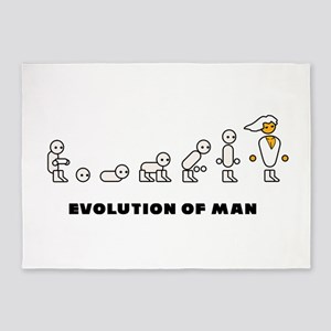 Evolution of Man PC master race 5'x7'Area Rug