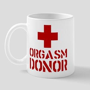 orgasm donor funny tshirt Mug