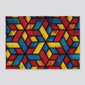 Colorful Cubes 5'x7'Area Rug