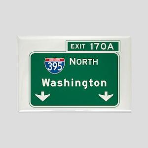Washington, DC Highway Sign Rectangle Magnet