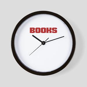 Books Make Me Happy Book Lover Bookish Wall Clock