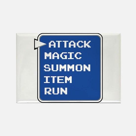 final fantasy attack magic summon item run gamer R