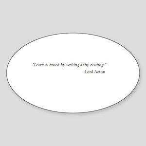 LEARN AS MUCH... Oval Sticker