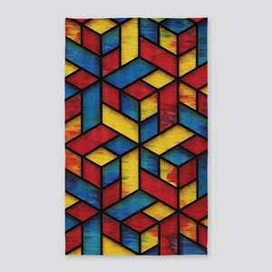 Colorful Cubes Area Rug