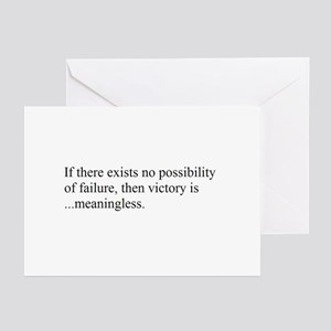 VICTORY vs. FAILURE Greeting Cards (Pk of 10)