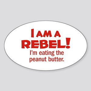 Food Rebel Oval Sticker