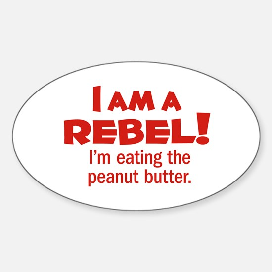 Food Rebel Oval Decal