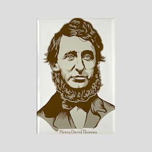Henry David Thoreau Rectangle Magnet