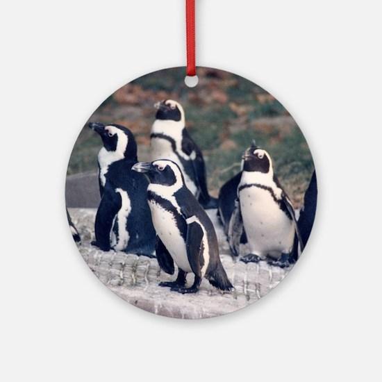 Penguin Parade Ornament (Round)