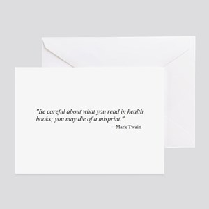 A CAUTION FROM MARK TWAIN...  Greeting Cards (Pack