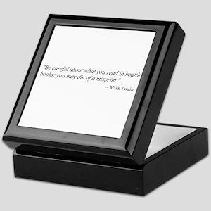 A CAUTION FROM MARK TWAIN... Keepsake Box