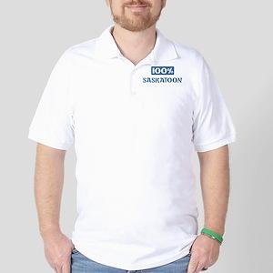 100 Percent Saskatoon Golf Shirt