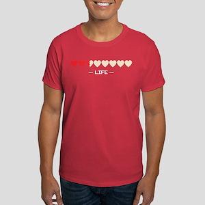 zelda hyrule life hearts Dark T-Shirt