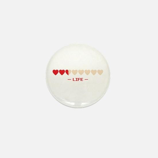 zelda hyrule life hearts Mini Button