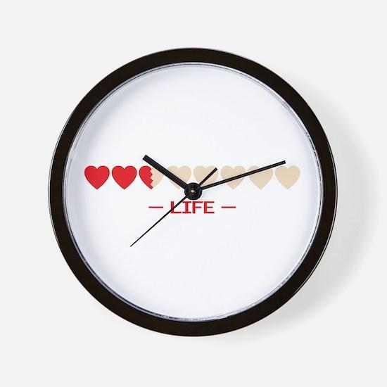 zelda hyrule life hearts Wall Clock