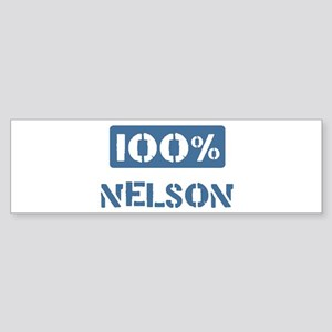 100 Percent Nelson Bumper Sticker