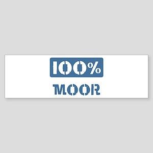 100 Percent Moor Bumper Sticker