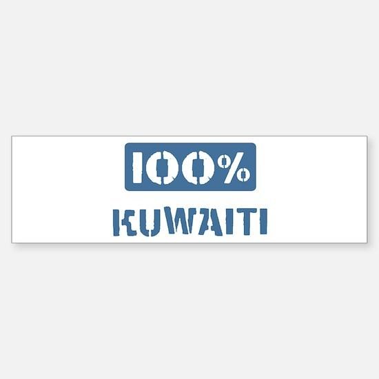 100 Percent Kuwaiti Bumper Bumper Bumper Sticker