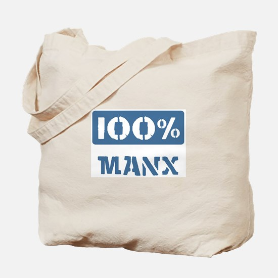 100 Percent Manx Tote Bag
