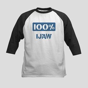 100 Percent Ijaw Kids Baseball Jersey