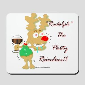 Sloshed Rudolph Mousepad
