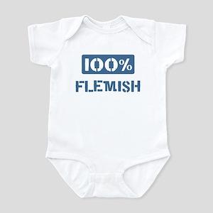 100 Percent Flemish Infant Bodysuit