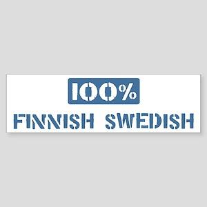 100 Percent Finnish Swedish Bumper Sticker