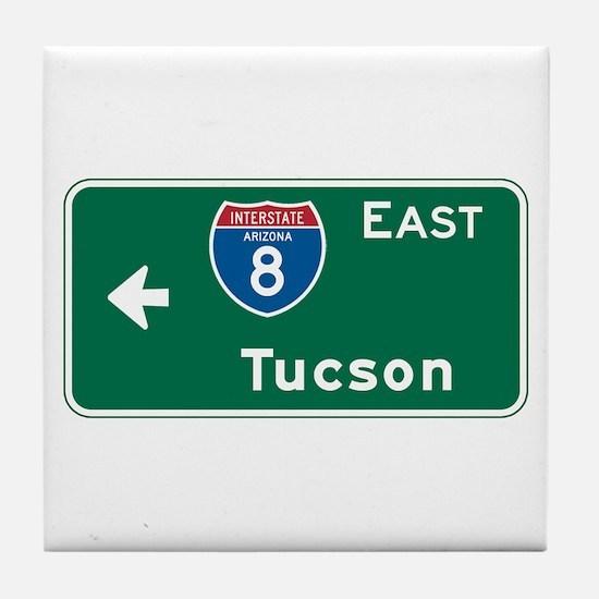 Tucson, AZ Highway Sign Tile Coaster