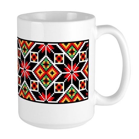 Folk Design 2 Large Mug