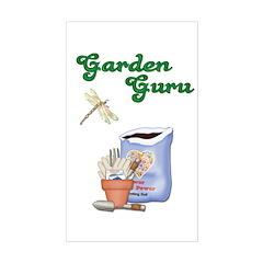Garden Guru Rectangle Decal