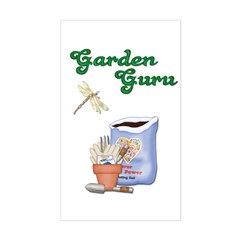 Garden Guru Rectangle Decal