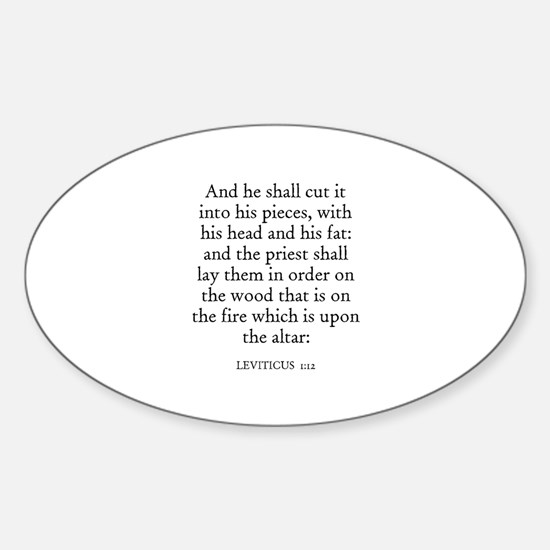 LEVITICUS 1:12 Oval Decal