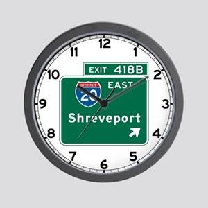 Shreveport, LA Highway Sign Wall Clock