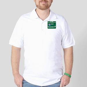 Savannah, GA Highway Sign Golf Shirt