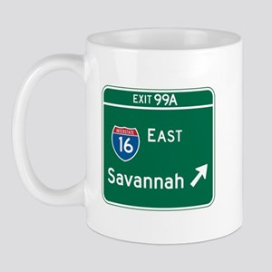 Savannah, GA Highway Sign Mug