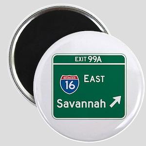 Savannah, GA Highway Sign Magnet