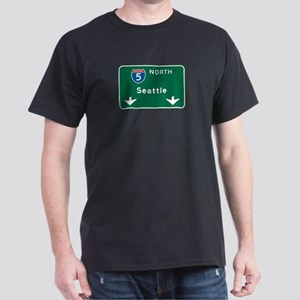 Seattle, WA Highway Sign Dark T-Shirt