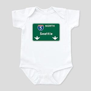 Seattle, WA Highway Sign Infant Bodysuit