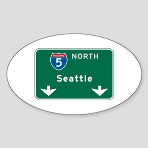 Seattle, WA Highway Sign Oval Sticker