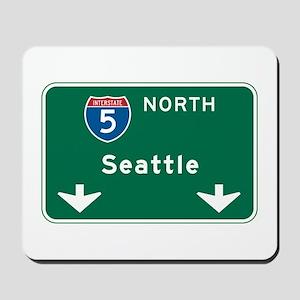 Seattle, WA Highway Sign Mousepad