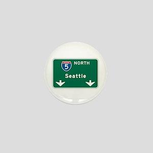 Seattle, WA Highway Sign Mini Button