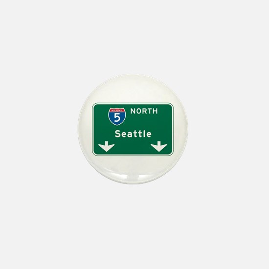Seattle, WA Highway Sign Mini Button