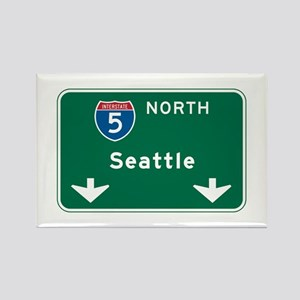 Seattle, WA Highway Sign Rectangle Magnet