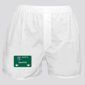 Seattle, WA Highway Sign Boxer Shorts