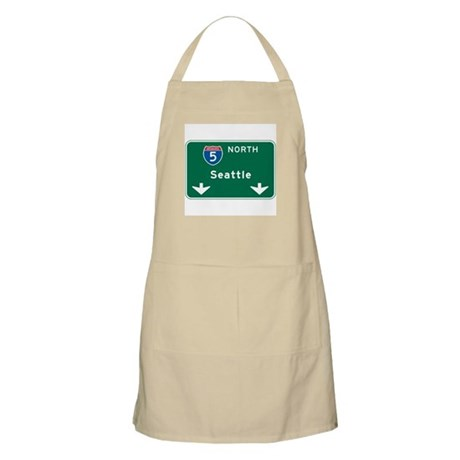 Seattle, WA Highway Sign BBQ Apron